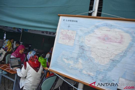 Aktivitas perkantoran pascagempa Lombok