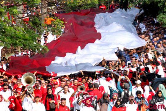 Sambut Asian Games, Paskibraka Sampang mengarak bendera 170 meter