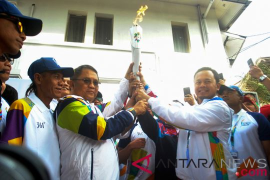Bima Arya lepas obor Asian Games