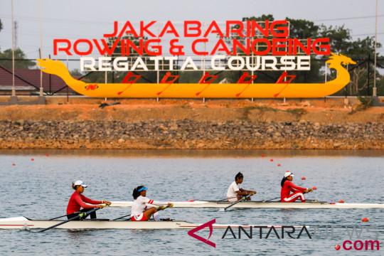 Latihan Atlet Dayung Indonesia