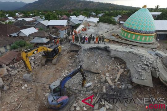 Pencarian Korban Gempa Lombok