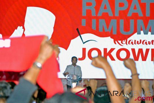 Relawan Jokowi siap berada di barisan terdepan