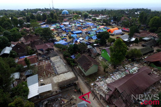 Tempat Pengungsian Gempa Bumi Lombok