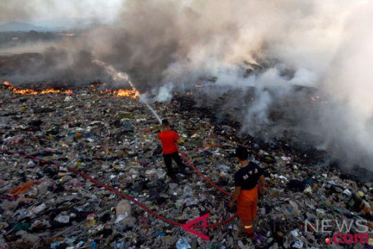 Kebakaran TPA Antang Makassar