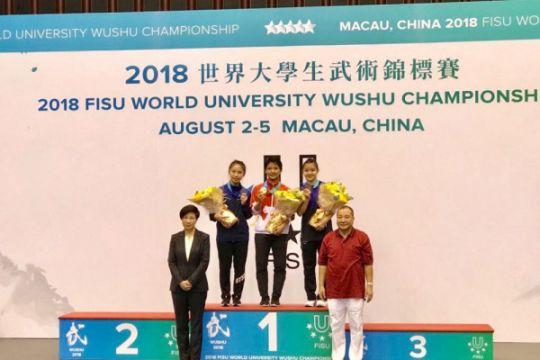 Natalie Chriselda buka kran emas di kejuaraan dunia wushu antaruniversitas