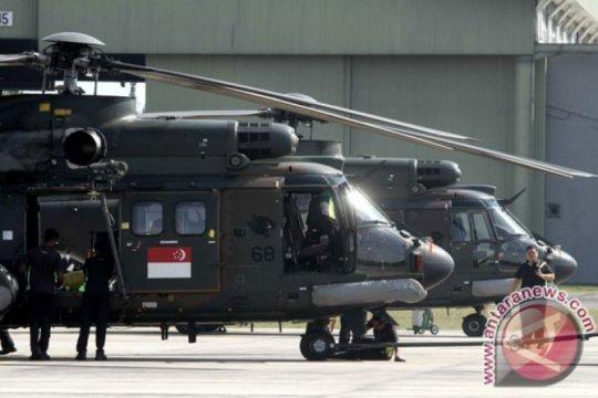 TNI AU latihan bareng Singapura di langit Riau