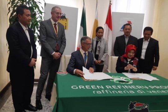 Pertamina jajaki pengembangan kilang ramah lingkungan dengan perusahaan Italia