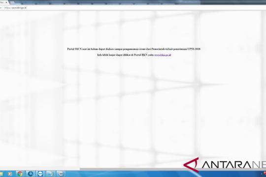 Portal informasi penerimaan CPNS belum bisa diakses