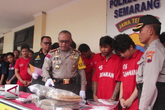 20 Hari, Polrestabes Semarang ringkus 39 tersangka narkoba