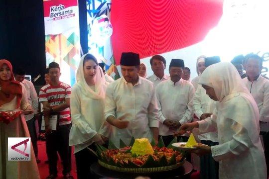 Khofifah nyatakan berseiring dengan Jokowi