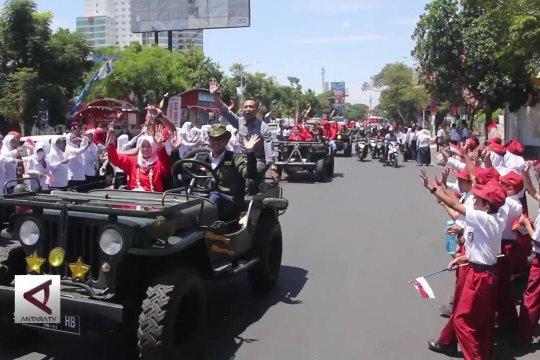 Puluhan atlet asal Jateng diarak keliling Semarang