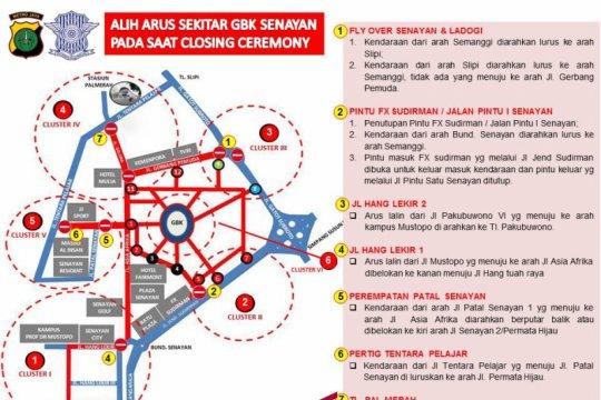 Asian Games - Dishub Lakukan Pengaturan Lalin Di Sekitar GBK Senayan