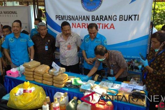 BNN musnahkan 2.223,4 gram sabu