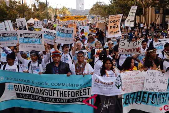Ribuan massa suarakan aksi perubahan iklim