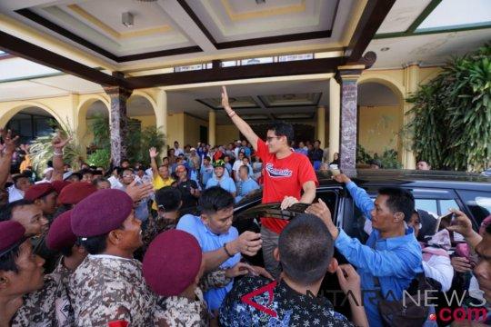 Sandiaga berdoa bersama warga Sumenep untuk Sulawesi Tengah