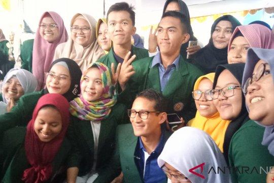 Sandiaga Uno ajak mahasiswa berpikir maju