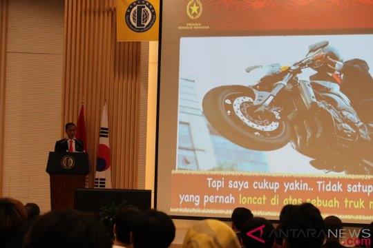 Presiden Jokowi beri kuliah umum di Universitas Hankuk Seoul