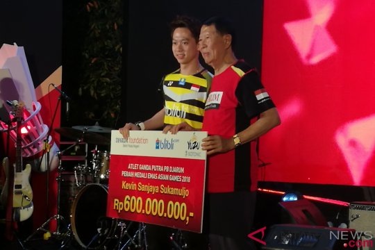Kevin Sanjaya diguyur bonus Rp600 juta dari PB Djarum