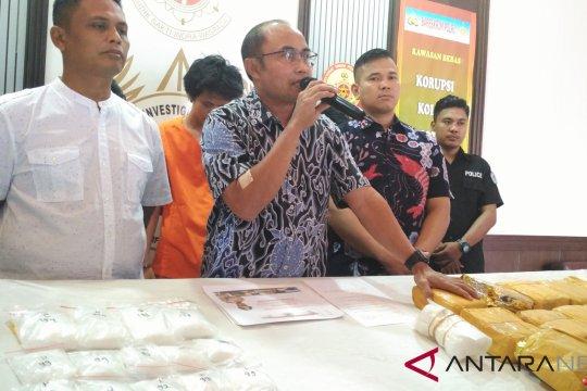 Polisi menyita 20 kilogram sabu-sabu asal Malaysia