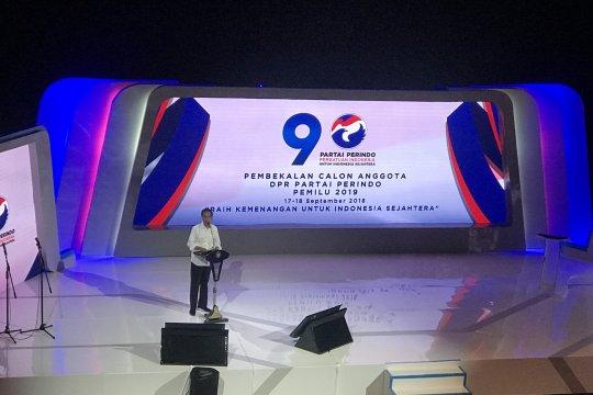 Jokowi bagikan pengalaman berpolitik pada caleg Perindo
