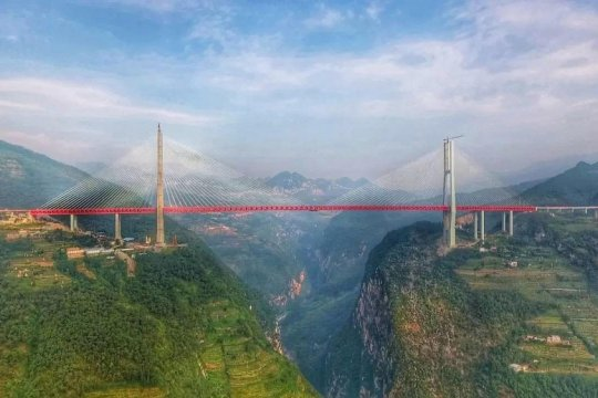 Jembatan Yunnan-Guizhou tertinggi versi Guinness