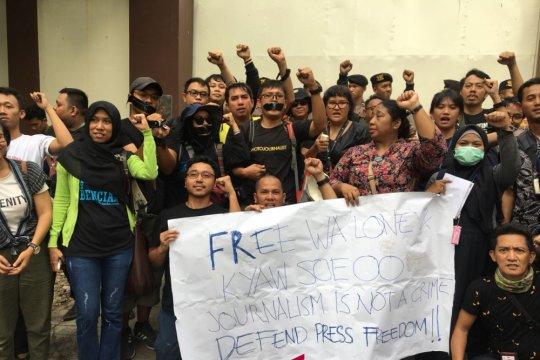Jurnalis Indonesia tuntut pembebasan dua wartawan Myanmar