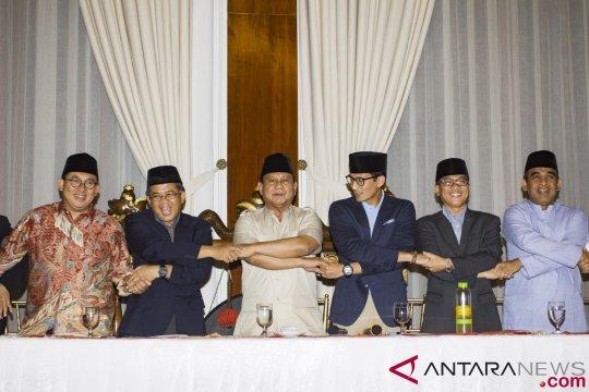 Prabowo-Sandiaga ke KPU didampingi pimpinan parpol koalisi