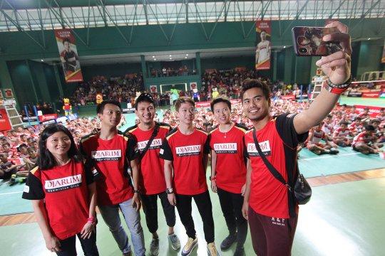 Atlet pelatnas semangati finalis Audisi Djarum Beasiswa Bulutangkis