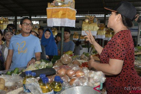Sandiaga Uno Kunjungi Pasar Sindhu Sanur