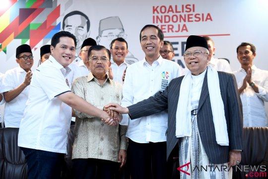 Parpol pengusung deklarasi tim pemenangan Jokowi-Ma'ruf