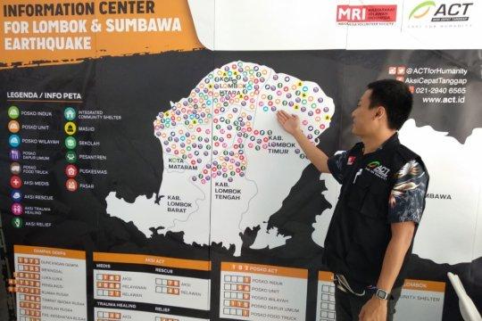 ACT bangun pusat informasi gempa Lombok dan Sumbawa
