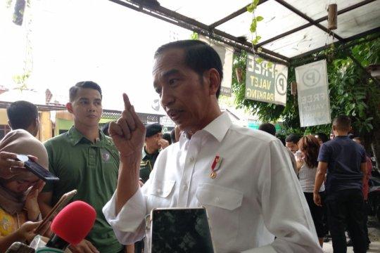 Jokowi: Nomor satu atau dua, alhamdulillah