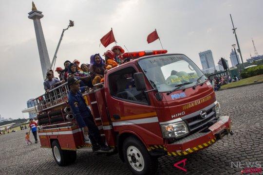 Edukasi Pemadam Kebakaran Di Monas