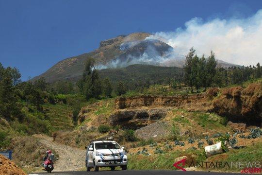 Kebakaran di Gunung Sindoro ludeskan lahan seluas 9,5 hektare