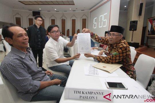 Laporan Dana Awal Kampanye Paslon No Urut 1