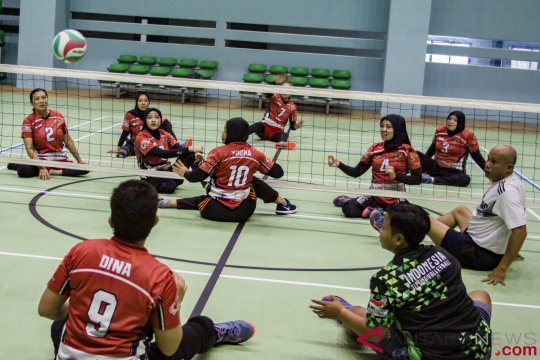 Timnas voli duduk putri dan putra Indonesia raih hasil berbeda