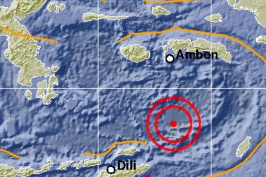 Gempa magnitudo 6,4 di Laut Banda bukti subduksi Banda aktif