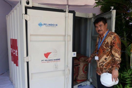 Di Paviliun Indonesia, ditampilkan kontainer mini pemangkas biaya logistik 30 persen