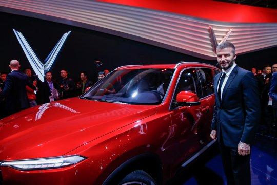 David Beckham promosikan mobil Vietnam VinFast di Paris Motor Show