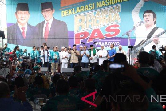 Prabowo ajak pendukungnya tidak terprovokasi fitnah