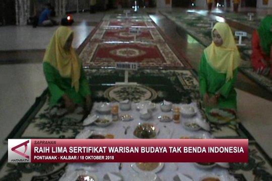 Raih lima sertifikat warisan budaya tak benda Indonesia
