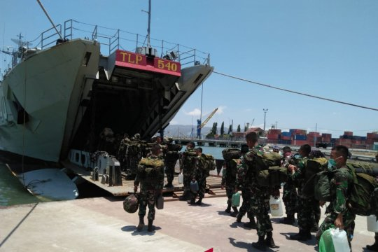 220 prajurit TNI di Lombok bergeser ke Palu