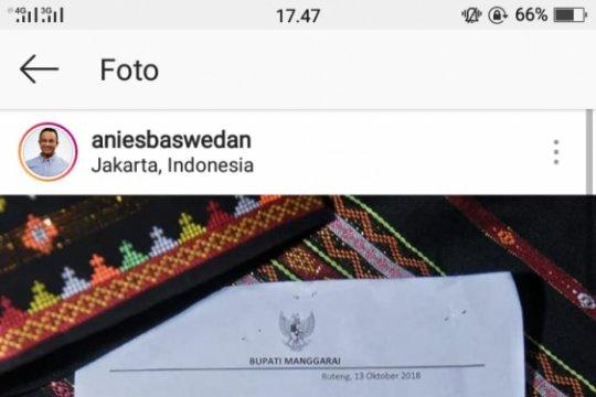 """Anies diapresiasi Pemkab Manggarai karena """"Jak Lingko"""""""