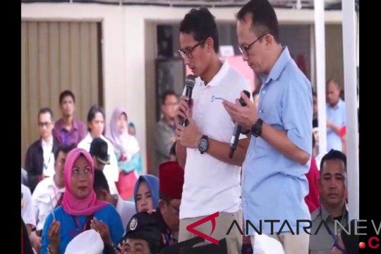 Sandiaga doa bersama warga Batam atas musibah jatuhnya Lion Air