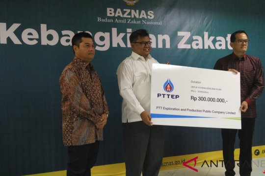 Perusahaan Thailand sumbang Rp500 juta bantu Sulteng