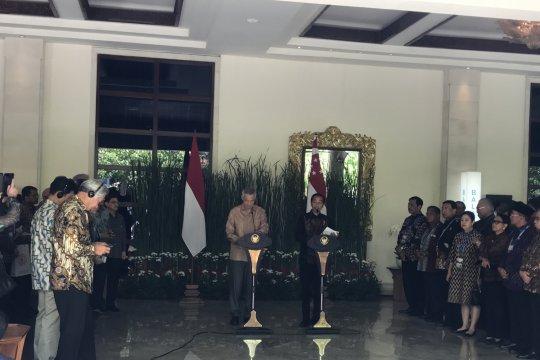 Jokowi sebut Singapura negara pertama tawarkan bantuan bencana