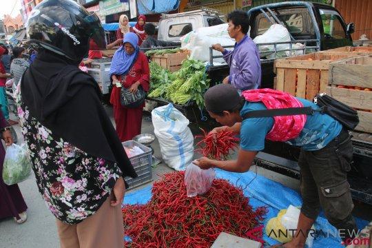 Aktivitas pasar Inpres Manonda Palu mulai pulih