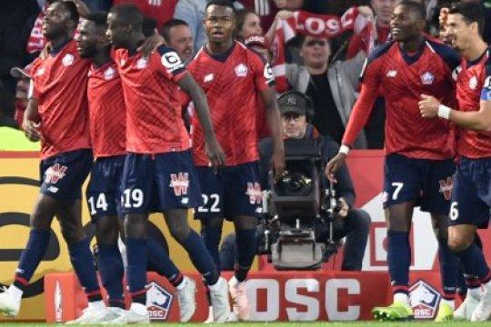 Gol tunggal Rafael Leao amankan kemenangan Lille atas Caen