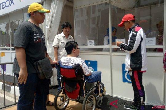 Antusias penyandang disabilitas saksikan pertandingan di GBK