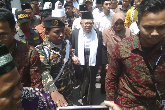 Ma'ruf Amin minta dukungan kiai NU di Yogyakarta